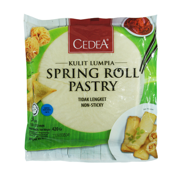 Spring Roll Pastry 6″x6″ (50 pcs)
