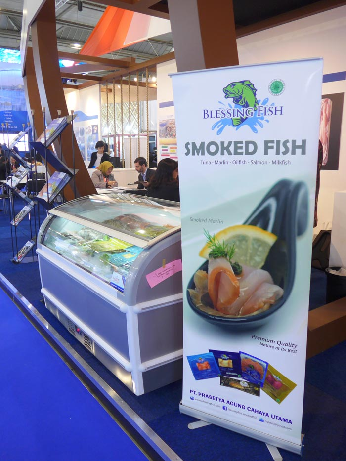 Blessing Fish at Brussels Seafood Expo