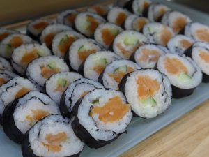 Blessing Fish smoked salmon sushi roll