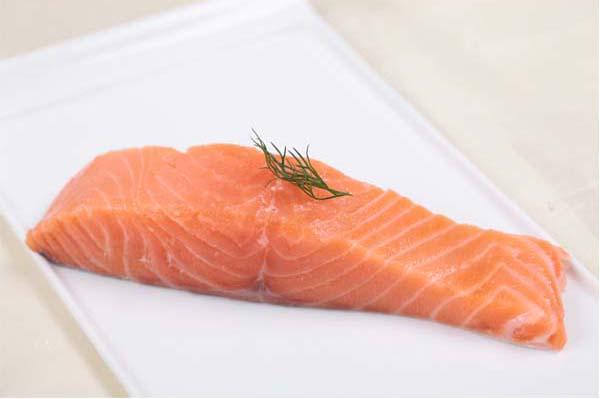 salmon steak skin