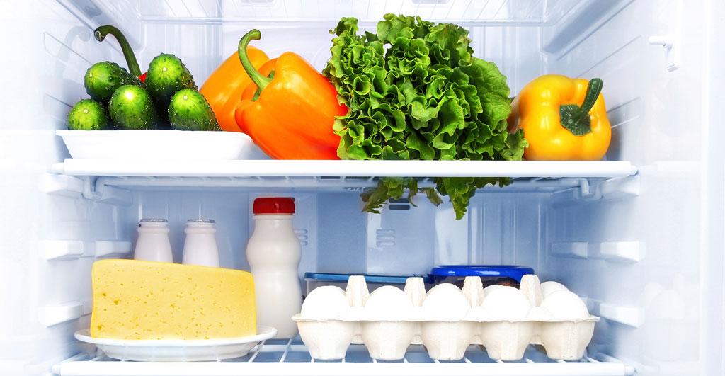 frozen food in the fridge