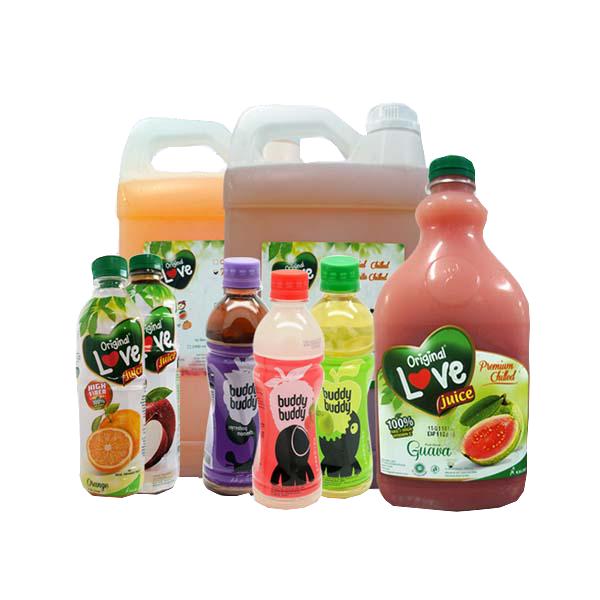 Juice selection at Puri Pangan