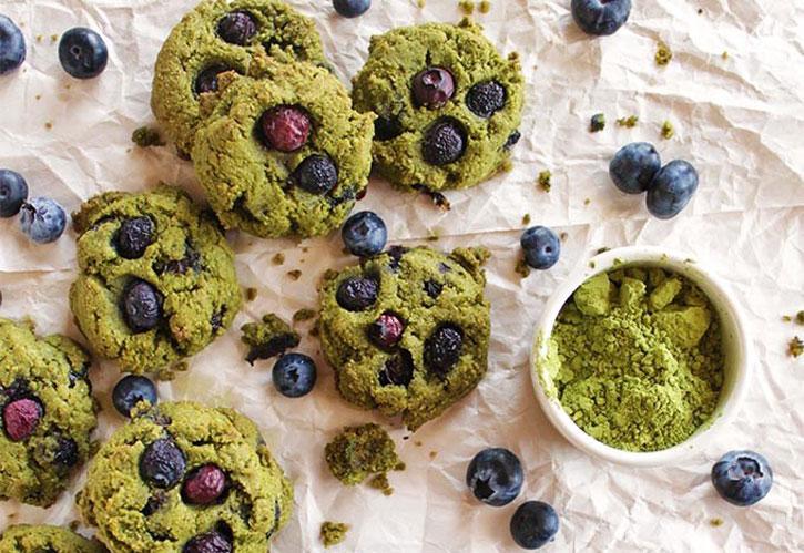 Greentea Blueberry Cookies Kue Kering untuk Idul Fitri