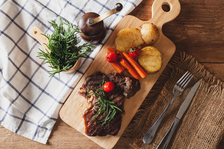 Steak serve