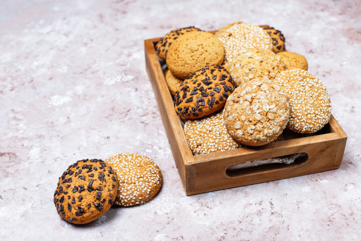 Cookies with buckwheat flakes
